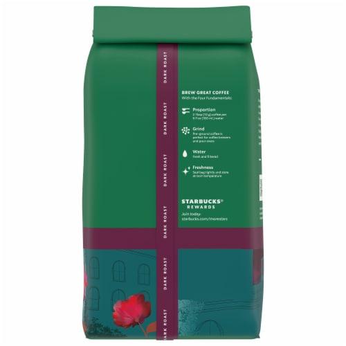 Starbucks® Decaf Caffe Verona Dark Roast Ground Coffee Perspective: back