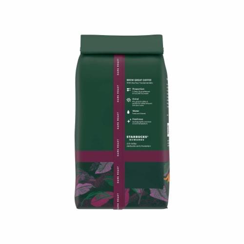 Starbucks Sumatra Dark Roast Ground Coffee Perspective: back