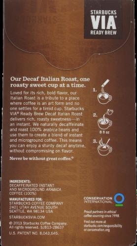 Starbucks VIA Italian Roast Coffee Single-Serve Packets Perspective: back