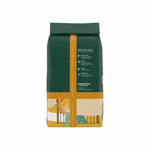 Starbucks® Veranda Blend Blonde Roast Ground Coffee Perspective: back