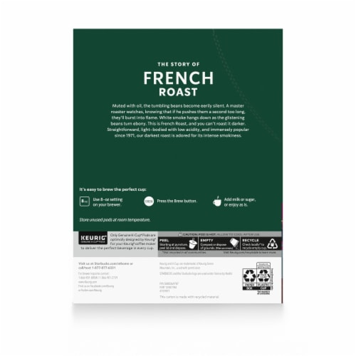 Starbucks® French Roast Dark Roast Coffee K-Cup Pods Perspective: back