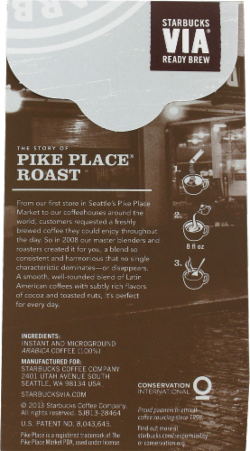 Starbucks Via Pike Place Roast Packs Perspective: back
