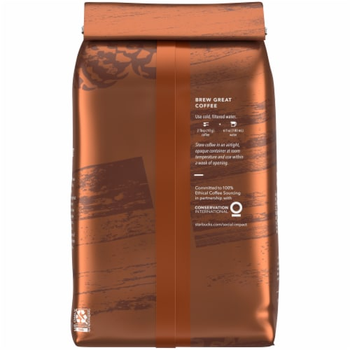 Starbucks® Medium Roast Pike Place Ground Coffee Perspective: back