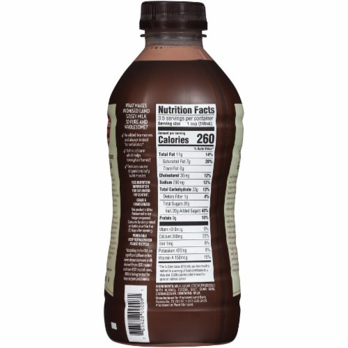 Promised Land Dairy Midnight Chocolate Ultra-Pasteurized Whole Milk Perspective: back