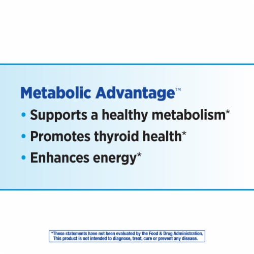 Enzymatic Therapy™ Metabolic Advantage™ Thyroid Formula Perspective: back