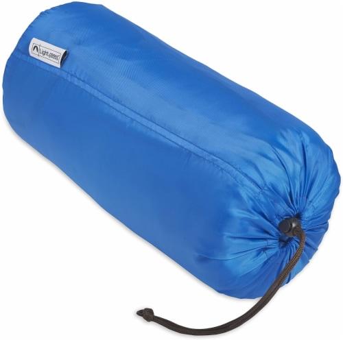 Lightspeed XL Ultra-Plush Waterproof Outdoor Stadium Blanket w/ Travel Bag, Blue Perspective: back