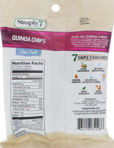 Simply7 Sea Salt Quinoa Chips Perspective: back