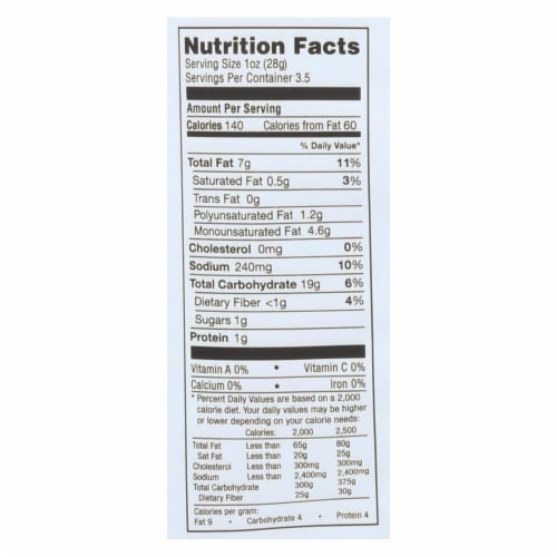 Simply 7 Sea Salt Quinoa Chips, 3.5 Ounce -- 12 per case. Perspective: back