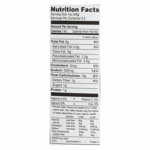 Simply7 Gluten Free Quinoa Chips, Barbeque, 3.5 Ounce (Pack of 12) Perspective: back