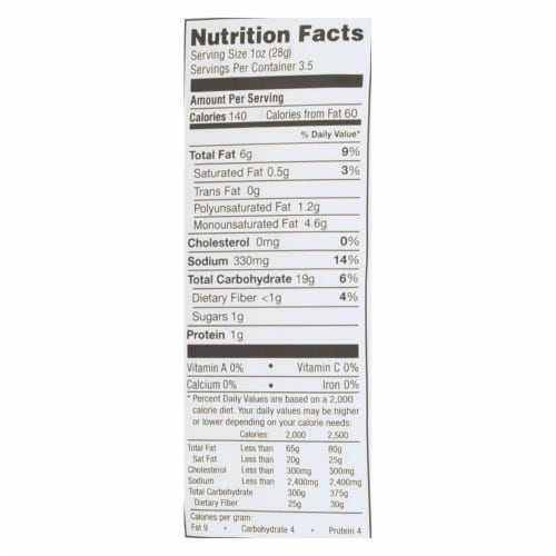 Simply 7 Sour Cream and Onion Quinoa Chips, 3.5 Ounce -- 12 per case. Perspective: back