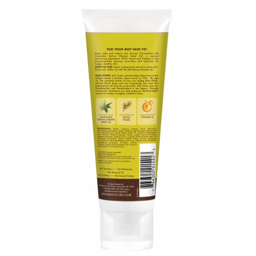 Shea Moisture Cannabis & Witch Hazel Skin Rescue Cream Cleanser Perspective: back