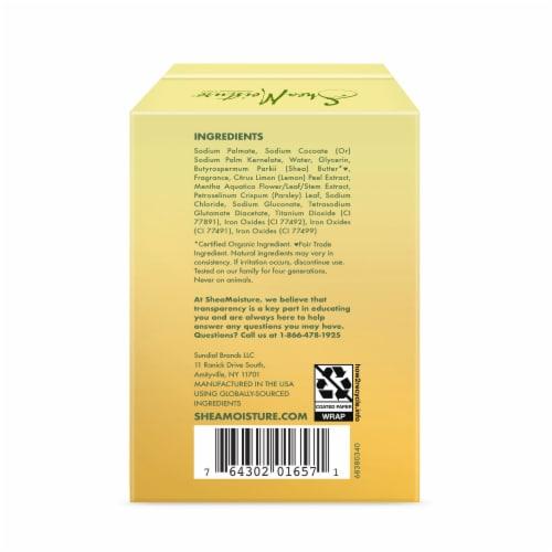 Shea Moisture Meyer Lemon & Mint Invigorating Bar Soap Perspective: back