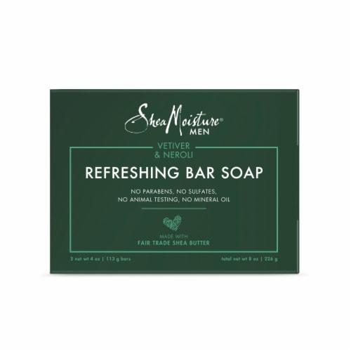 Shea Moisture Men Vetiver & Neroli Refreshing Bar Soap Perspective: back