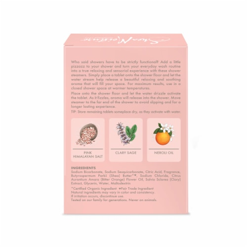 Shea Moisture Pink Himalayan Salt Relaxing Shower Steamers Perspective: back