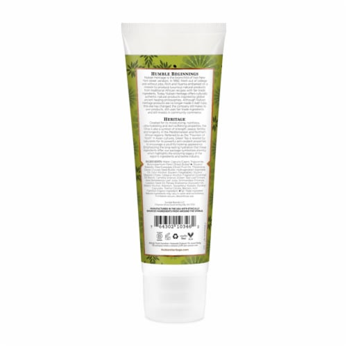 Nubian Heritage Olive Oil and Green Tea Hand Cream Perspective: back
