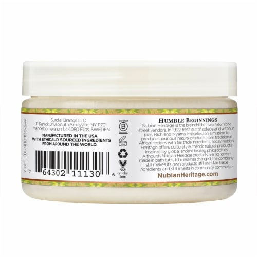 Nubian Heritage Shea Butter Infused With Indian Hemp & Haitian Vetiver Perspective: back
