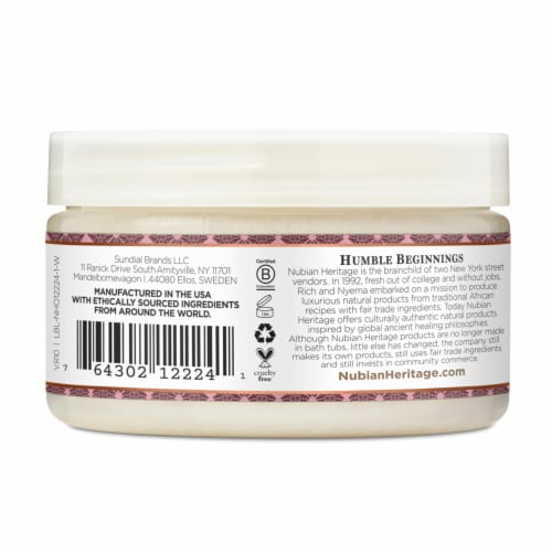 Nubian Heritage Infused Shea Butter Patchouli & Buriti Perspective: back