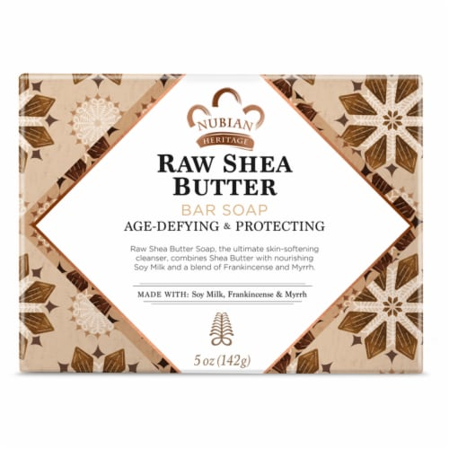 Nubian Heritage Raw Shea Butter Soap Perspective: back