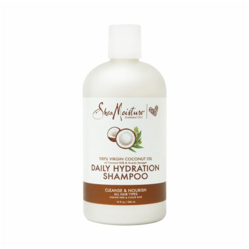 Shea Moisture Daily Hydration 100% Virgin Coconut Oil Shampoo Sulfate Free Perspective: back