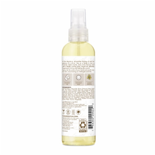 Shea Moisture Virgin Coconut Oil Daily Hydration Finishing Oil Serum Perspective: back