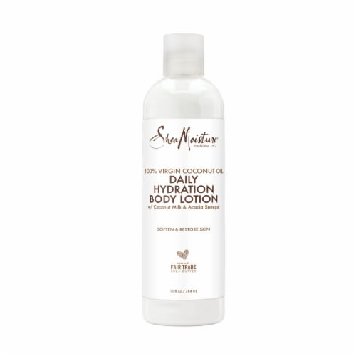 Shea Moisture Virgin Coconut Oil Daily Hydration Body Lotion Perspective: back