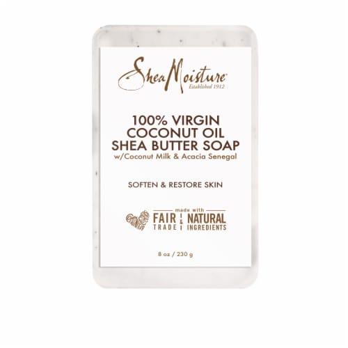 SheaMoisture 100% Virgin Coconut Oil Shea Butter Bar Soap Perspective: back