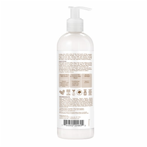 Shea Moisture 100% Virgin Coconut Oil Daily Hydration Body Lotion Perspective: back
