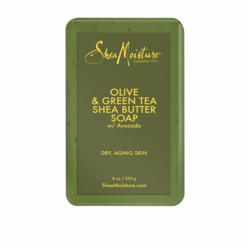 Shea Moisture Olive & Green Tea Shea Butter Bar Soap Perspective: back