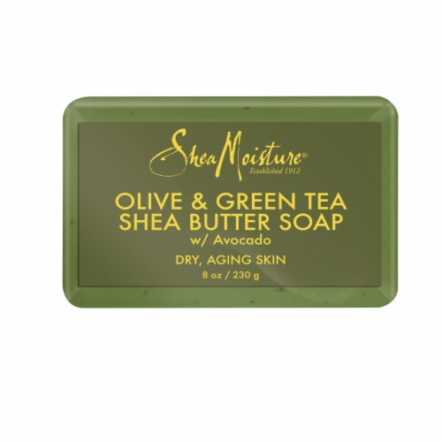 Shea Moisture® Olive Oil & Green Tea Extract Shea Butter Soap for Dry Aging Skin Perspective: back