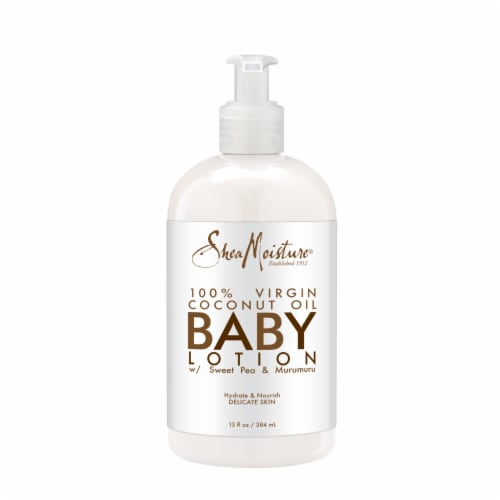 Shea Moisture Virgin Coconut Oil Baby Lotion Perspective: back