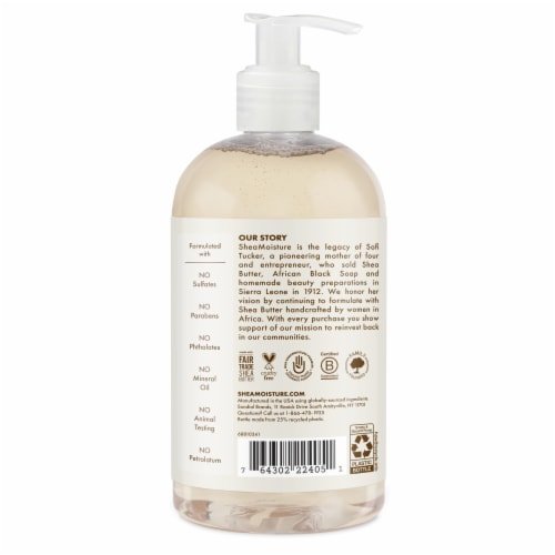 Shea Moisture 100% Virgin Coconut Oil Baby Wash & Shampoo Perspective: back