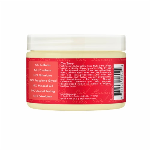 Shea Moisture Red Palm Oil & Cocoa Butter Curl Stretch Pudding Perspective: back