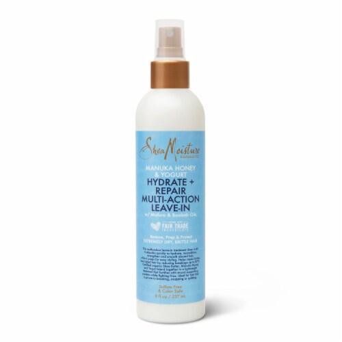 Shea Moisture® Silicone-Free Manuka Honey & Yogurt Mutli-Action Leave-in Hair Care for Damaged Hair Perspective: back
