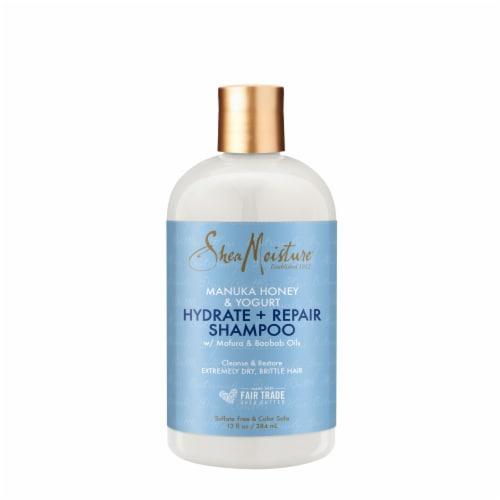 Shea Moisture Hydrate And Repair Manuka Honey and Yogurt Shampoo Sulfate Free Perspective: back