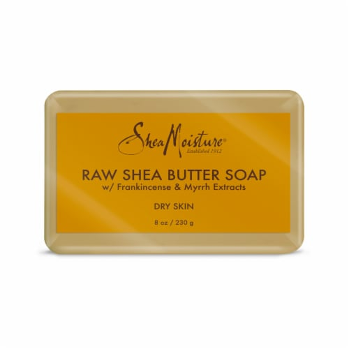 Shea Moisture Raw Shea Butter Soap With Frankincense and Myrrh Extract Perspective: back