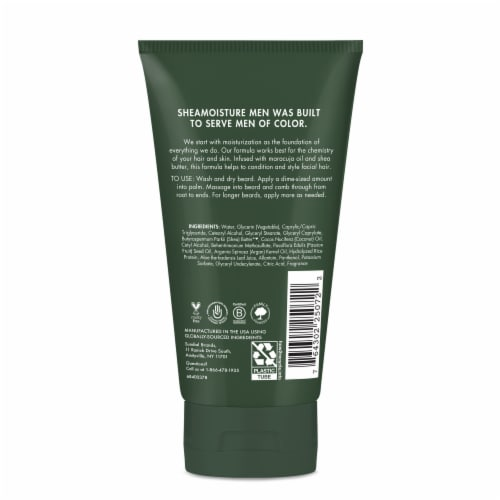 SheaMoisture Men Maracuja Oil & Shea Butter Beard Full Beard Detangler Perspective: back