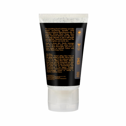 Shea Moisture African Black Soap Clarifying Face Wash & Scrub Perspective: back