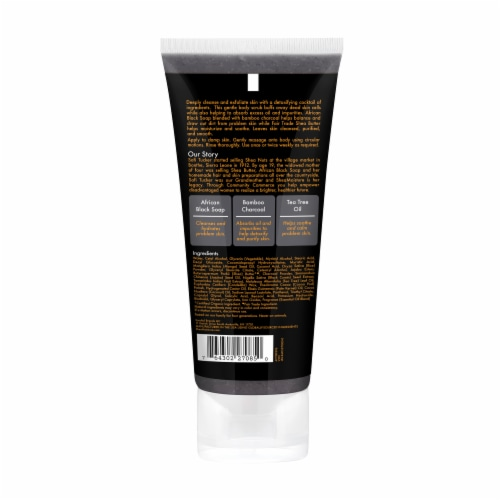 Shea Moisture African Black Soap Bamboo Charcoal Body Scrub Perspective: back