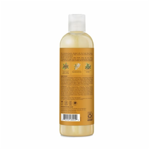 Shea Moisture Raw Shea Butter with Frankincense and Myrrh Hydrating Body Lotion Perspective: back