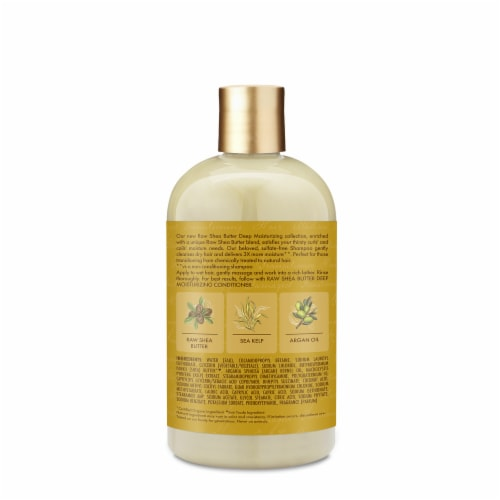 Shea Moisture Moisture Retention Raw Shea Butter Shampoo Sulfate Free Perspective: back