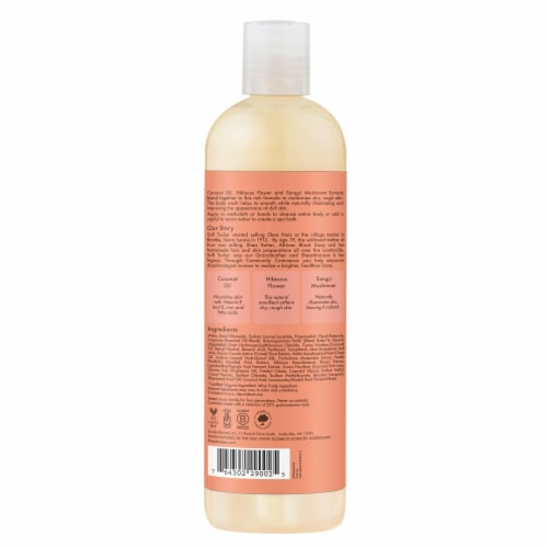 Shea Moisture Coconut & Hibiscus Illuminating Body Wash Perspective: back