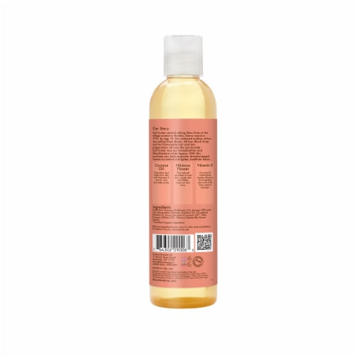 Shea Moisture Coconut & Hibiscus Firming & Toning Bath Body & Massage Oil Perspective: back