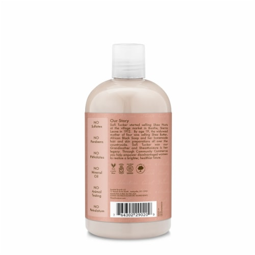 Shea Moisture Curl And Shine Coconut And Hibiscus Shampoo Sulfate Free Perspective: back