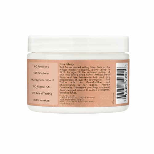 Shea Moisture® Coconut & Hibiscus with Shea Butter Hair Mask for Dry Curly Hair Perspective: back