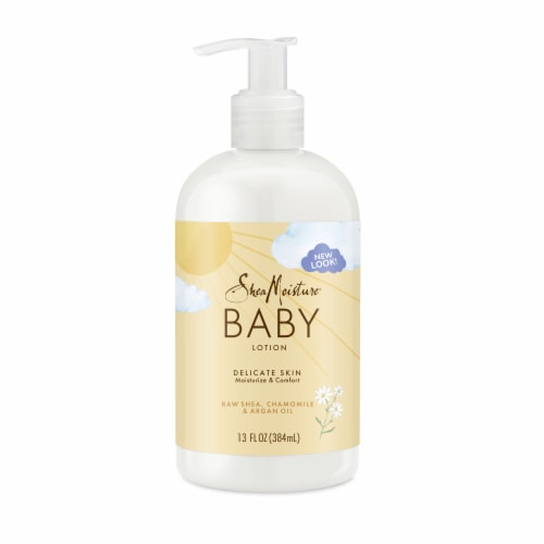 Shea Moisture Raw Shea Chamomille & Argan Oil Baby Lotion Perspective: back