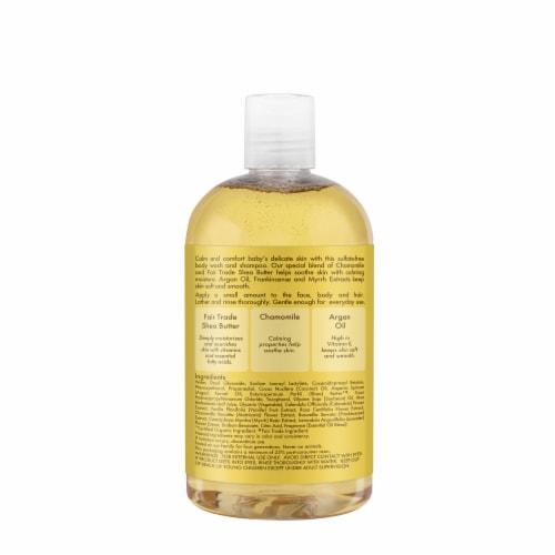 Shea Moisture Baby Raw Shea Chamomille And Argan Wash And Shampo Perspective: back