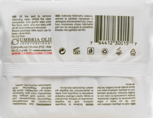 Olivella Daily Facial Cleansing Tissues - 30 Tissues Perspective: back