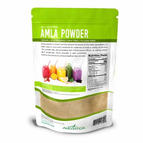 Certified Organic Amla Powder 16oz by Alovitox - Rich in Antioxidants, Smoothie Powder Mix Perspective: back
