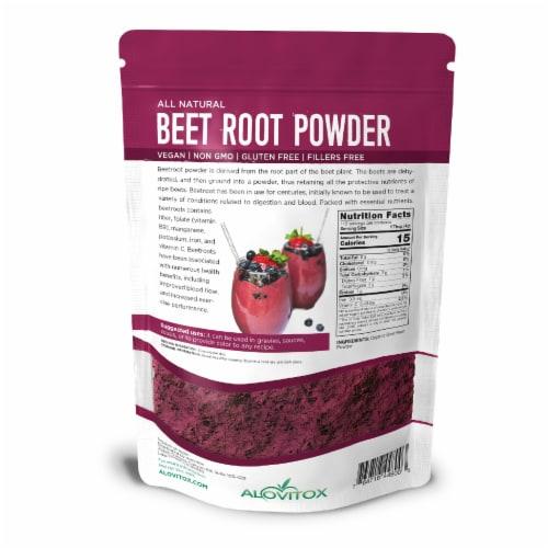 Certified Organic Beet Root Powder 16 oz Raw Vegan & Gluten Free (Beet Root Powder, 16 oz) Perspective: back