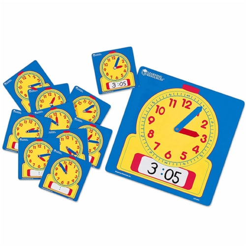 Learning Resources® Write & Wipe Clocks Classroom Set Perspective: back